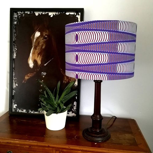 African Wax Print Fabric Lampshade