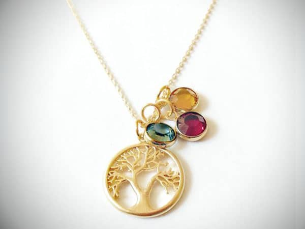 Birthstone Family Tree Necklace