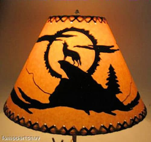Coyote Scenic Lamp Shade