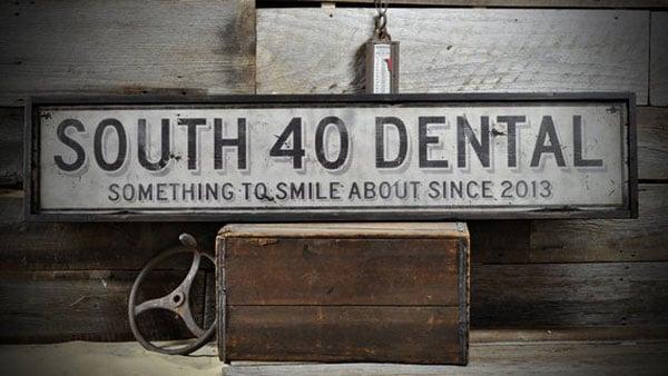 Custom Distressed Dentist Office Sign