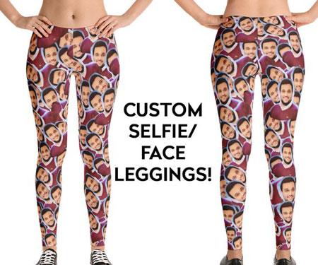 Custom Selfie Face Leggings