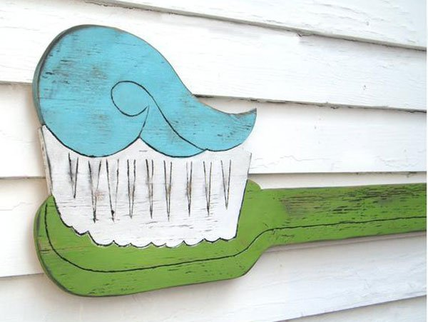 Dental Office Toothbrush Wall Art