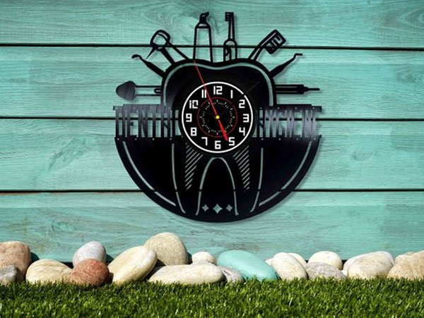 Dental Wall Art Vinyl Wall Clock