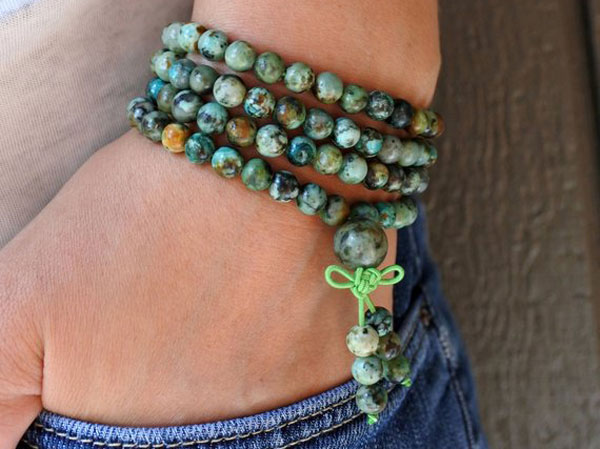 GROWTH and DEVELOPMENT African Turquoise Gemstone Bead Bracelet
