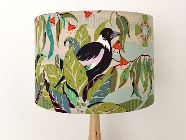 Magpie Green Pastel Tones Lamp Shade