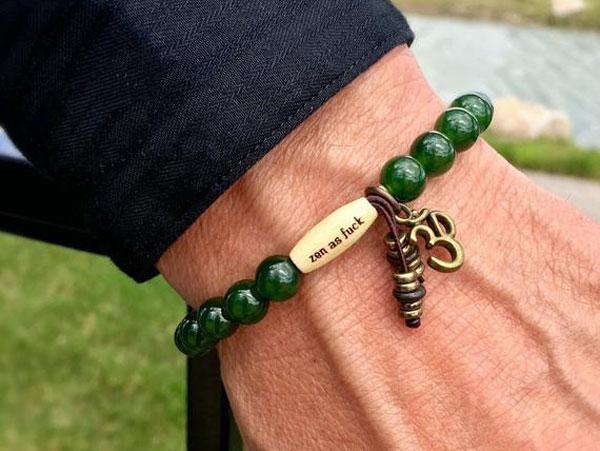 Mens Jade Zen as F#ck Success Bracelet