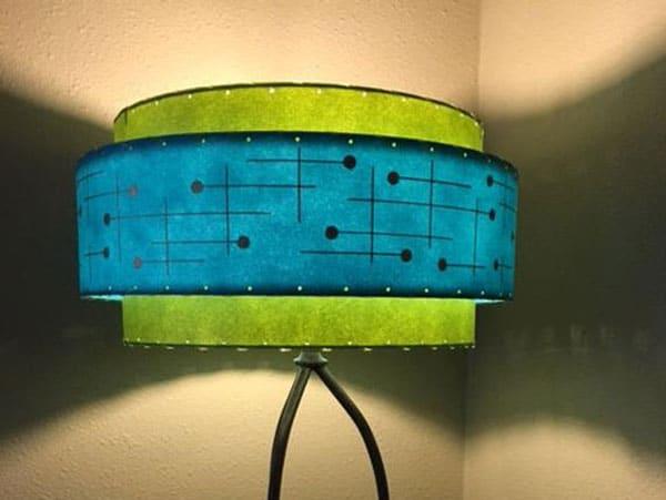 Mid Century Style 3 Tier Fiberglass Lamp Shade