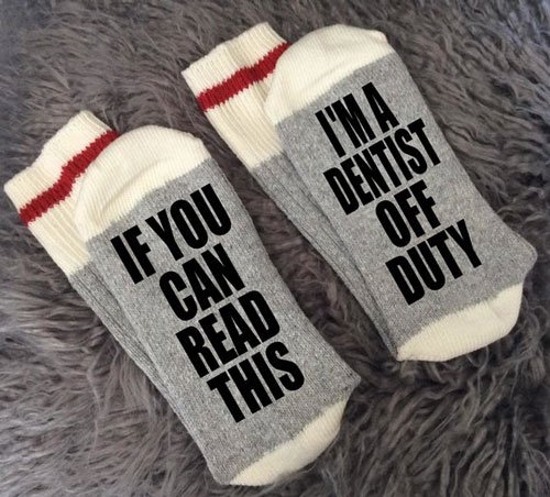 Off Duty Dentist Socks