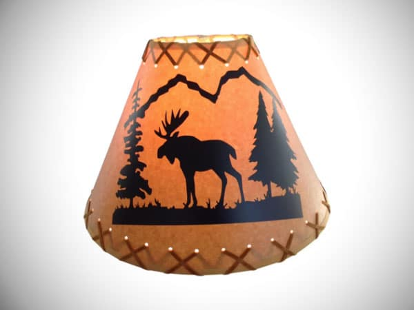 "Moose 9"" Paper Empire Lamp Shade"