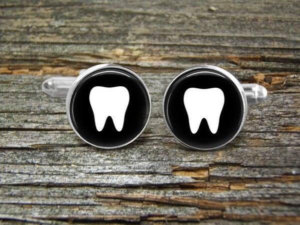 Tooth Dental Cufflinks