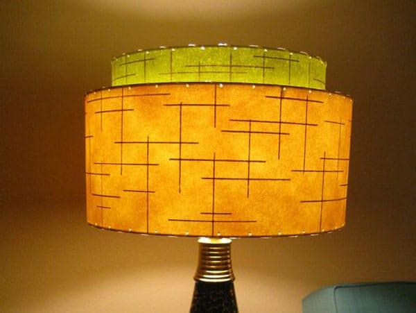 Vintage Style 2 Tier Fiberglass Lamp Shade