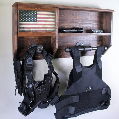 Wall-Mounted Tactical Gear Storage Rack