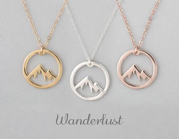 Wanderlust Mountain Necklace