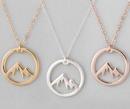 Wanderlust Mountain Necklace