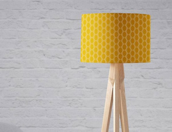 Yellow Geometric Lampshade
