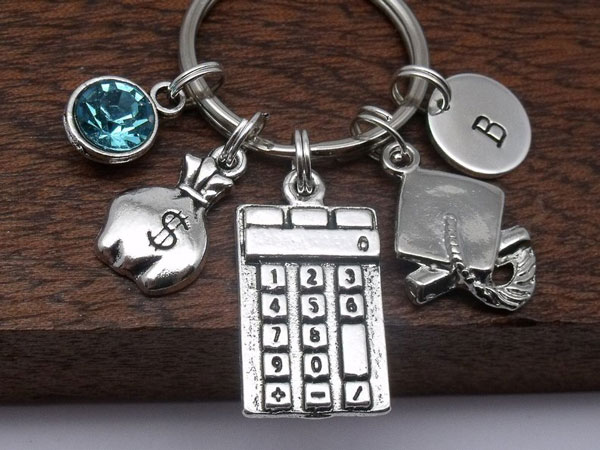Accountant Calculator Keyring