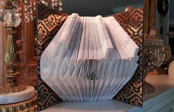 Accountant Folded Book Art