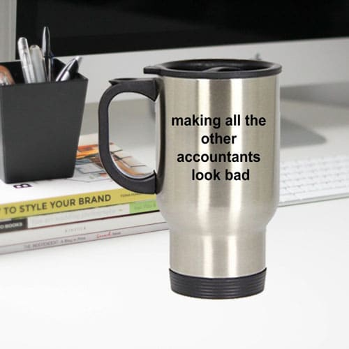 Accountant Travel Tumbler Mug