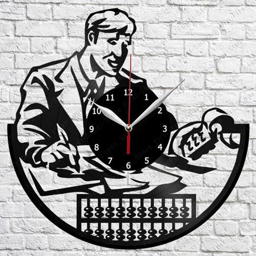 Accountant Vinyl Record Clock
