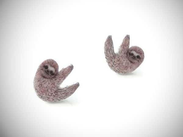 baby sloth earrings