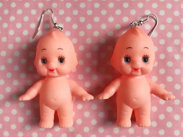 Creepy Baby Doll Earrings - Unusual Earrings