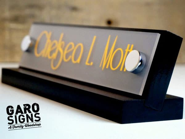 Custom Desk Sign Office Gift Idea