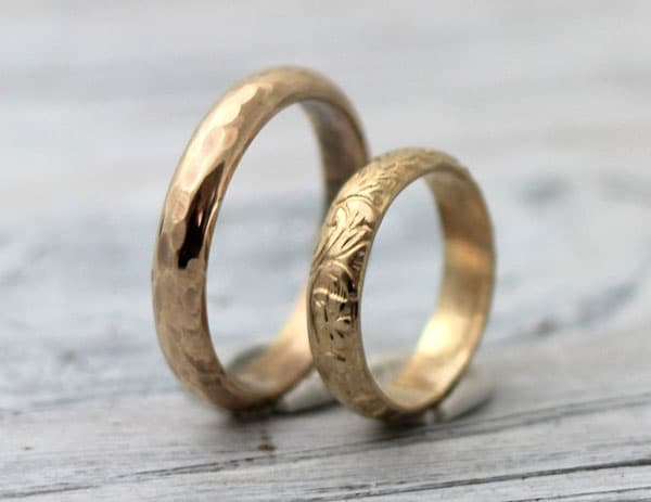 His and Hers 14K Gold Filled Couples Rings