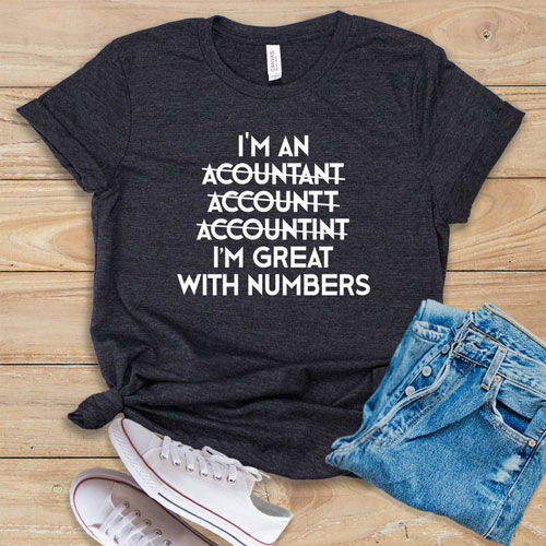 I'm Great With Numbers Unisex T-Shirts