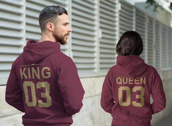 King & Queen Matching Hoodies