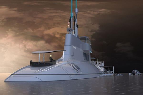Migaloo Submarine Superyacht Hybrid