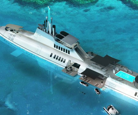Migaloo Submarine Superyacht Hybrid