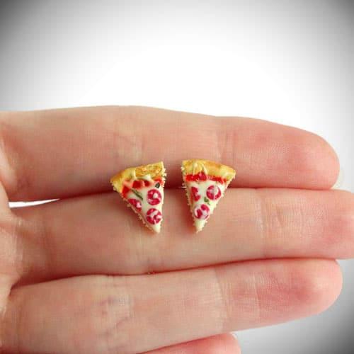 Miniature Pizza Slice Earrings
