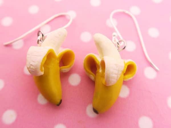 Peeled Banana Earrings
