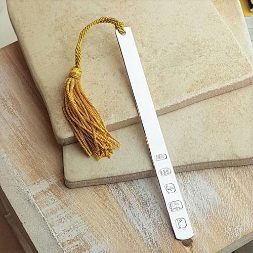 Personalised Modern Slim and Slender Silver Bookmark