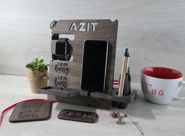 Personalized Docking Station - Gifts for Co-Workers You Can Buy