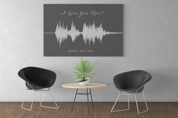 Personalized Soundwave Canvas Print