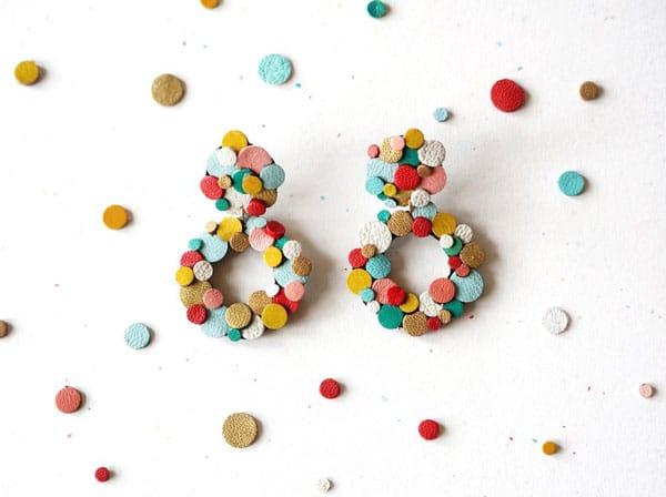 Rainbow Confetti Earrings