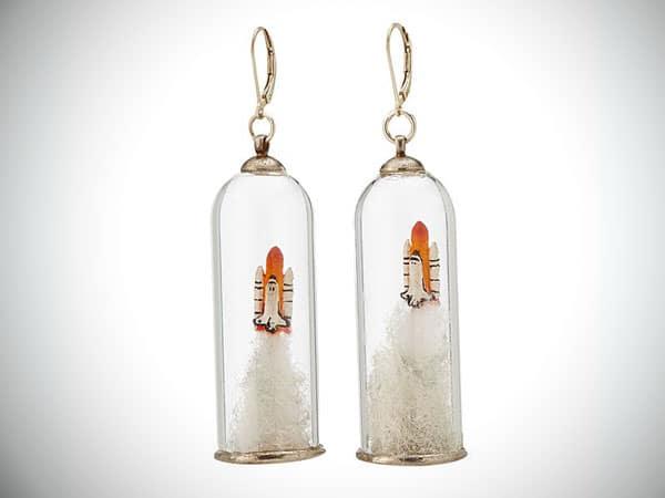 shuttle rocket earrings