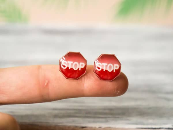 Stop Sign Earrings