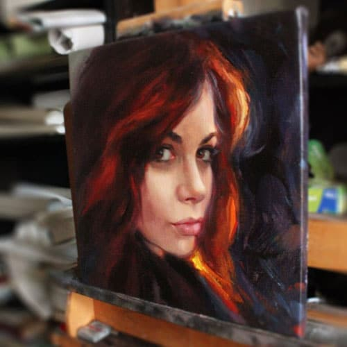 The Ultimate Girlfriend Gift - Oil Painting From Photo Portrait