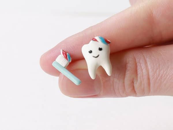 Tooth & Toothbrush EarringsTooth & Toothbrush Earrings