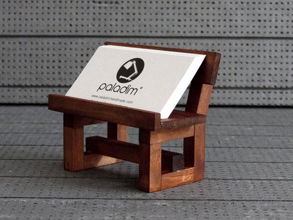 Wooden Business Card Holder