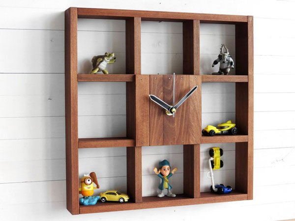 Wooden Wall Clock Box for Office and Home Decor
