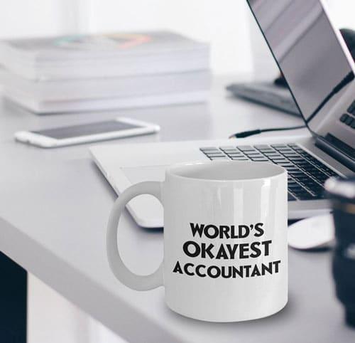 World's Okayest Accountant Mug