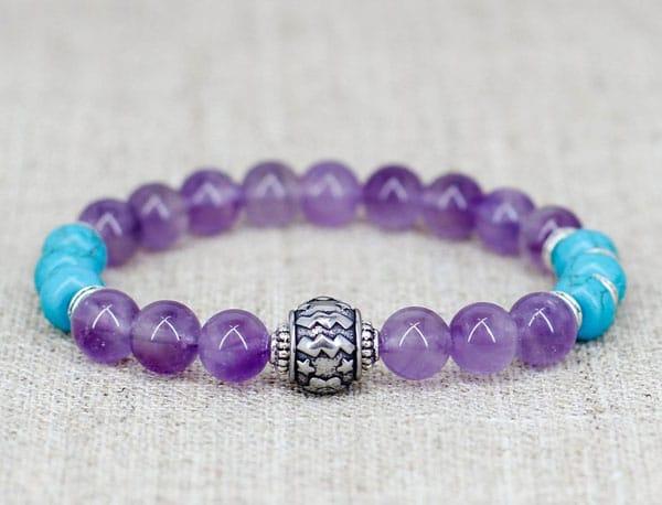 Zodiac Amethyst Bracelet