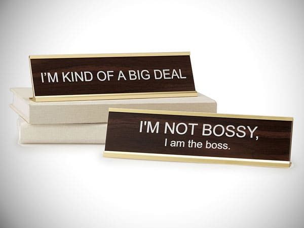Big Personality Desk Signs