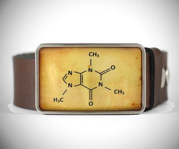 Caffeine Molecule Belt Buckle