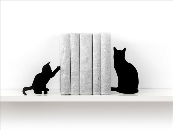 Cat Lady or Kids Bookends