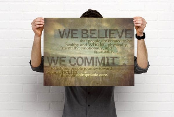 Chiropractic Purpose Statement Artwork