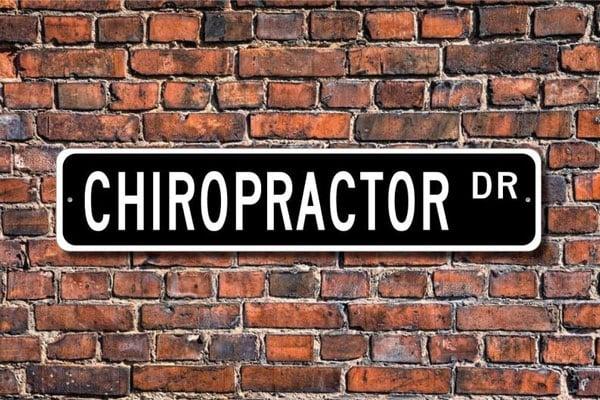 Chiropractor Custom Street Sign